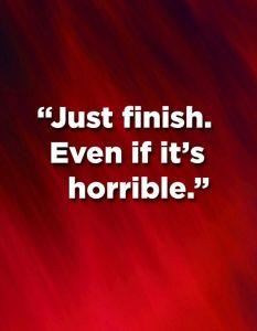 just-finish